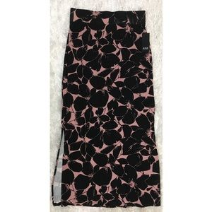 a.n.a Black & Dusty Pink Brushed Floral Maxi Skirt
